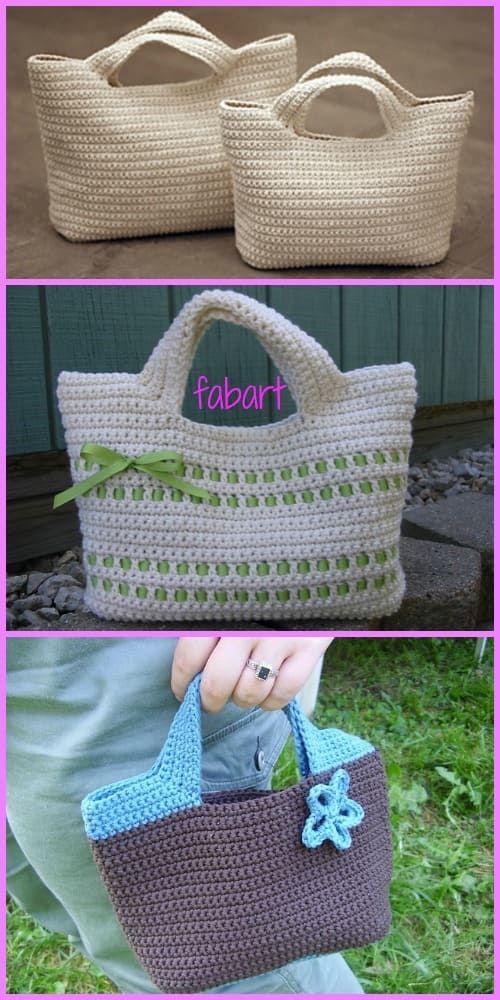 Descubre Como Puedes Hacer Estas Preciosas Bolsas De Crochet ...