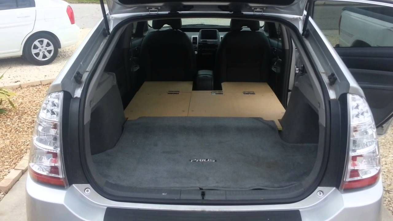 Window seat storage camps pinterest - Prius Camping Bed Rig And Storage