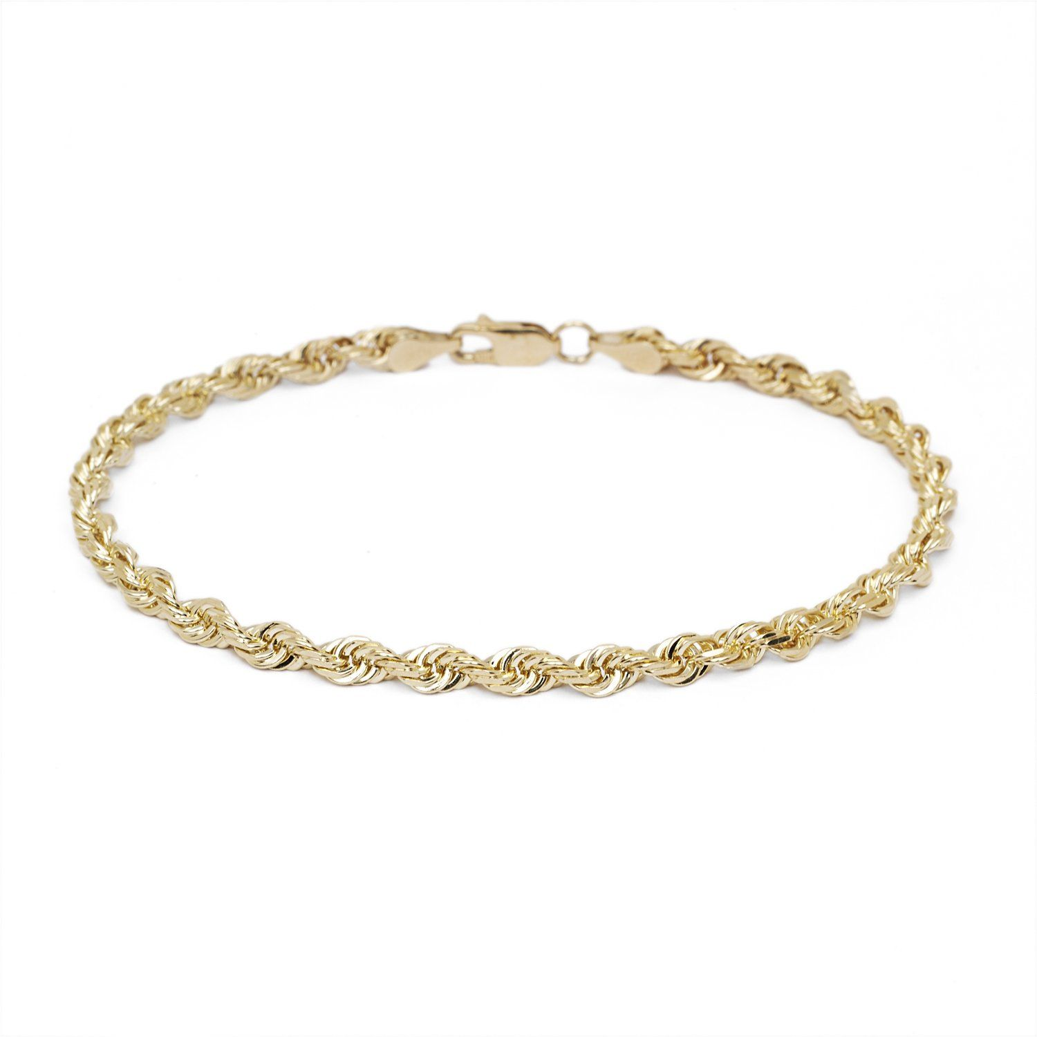 elegant bracelets ankle beads filled dangling solid jewelry bling mm gold bracelet in anklet