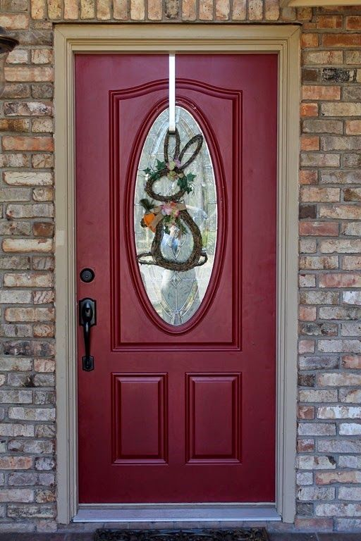 What front door color goes with light brick exterior house - Brick house front door ...