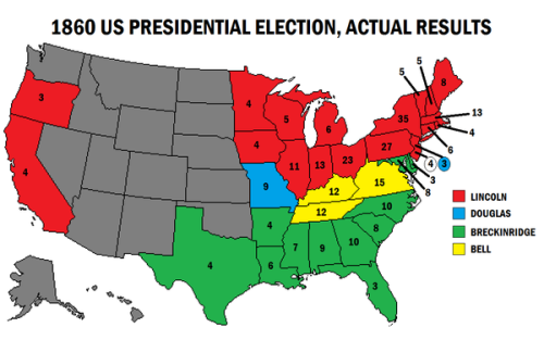 1860 US Presidential Election Vintage USA Pinterest