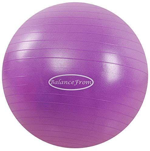 BalanceFrom Anti-Burst and Slip Resistant Exercise Ball Yoga Ball Fitness Ball Birthing Ball ...