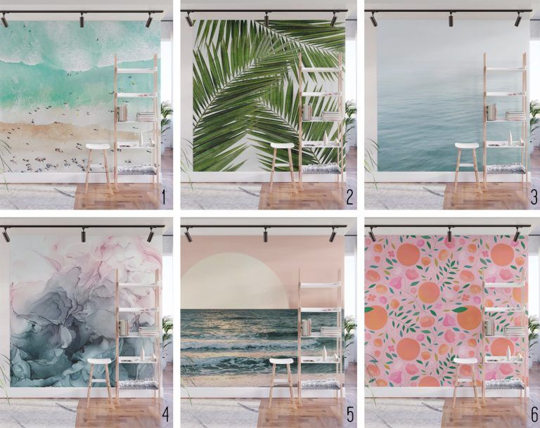 How To Install A Removable Wallpaper Mural Young House Love In 2020 Mural Wallpaper Mural Design Removable Wallpaper