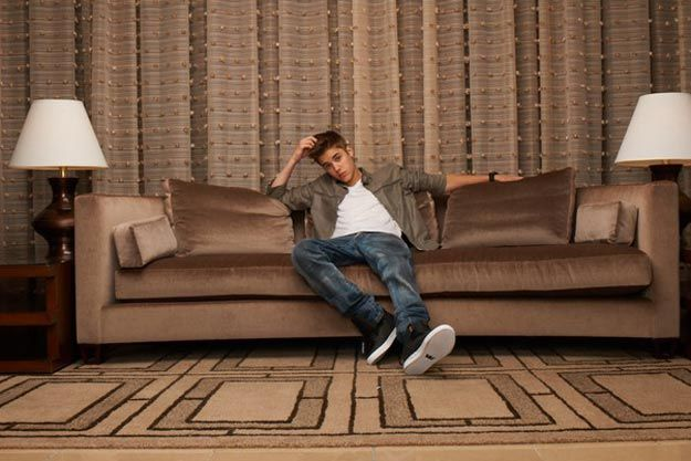 justin bieber on the couch forbes interview celebrities and sofas pinterest justin. Black Bedroom Furniture Sets. Home Design Ideas