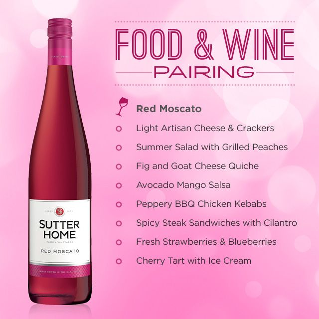 Red Hot Moscato Summer Sutter Home Family Vineyards Wine Food Pairing Wine Pairing Red Moscato