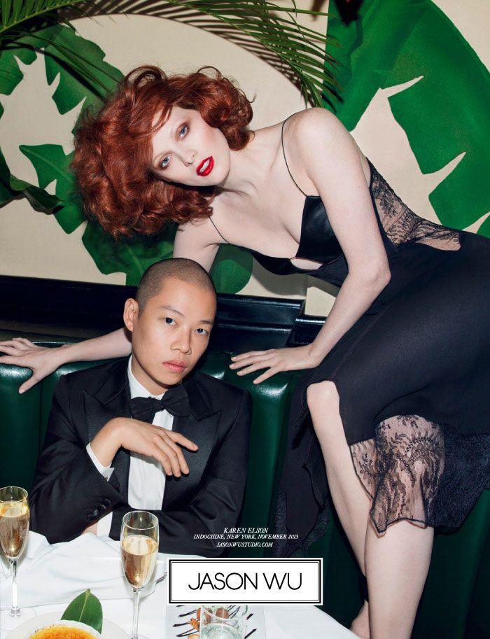Jason Wu Taps Karen Elson for Spring 2014 Campaign by Inez & Vinoodh