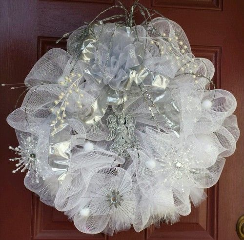Diy Wedding Wreaths: Wedding Wreath, Wedding Deco Mesh