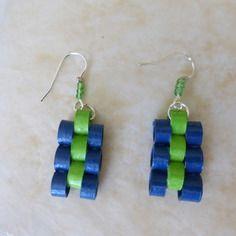 Earrings in quilling
