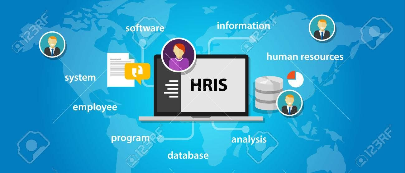 Hris Human Resources Information System Software Application Company Vector Aff Resources Information Hris Human System