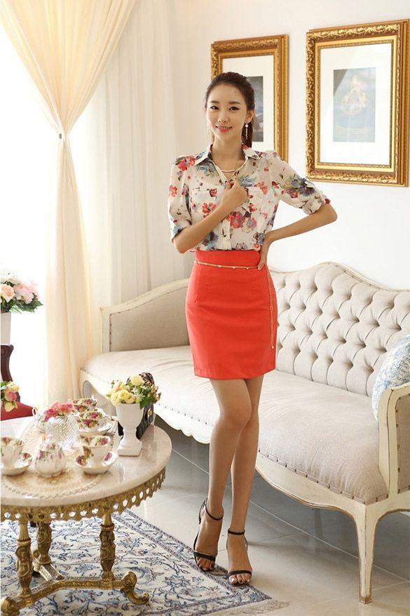 Stylish New Fashion Lady Women Long Sleeve Sexy Lapel Chiffon Shirt Top Blouse