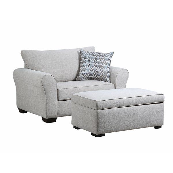 Derry Chair And A Half Living Room Chair Ottoman Set