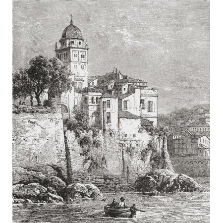 The Arsenal At Genoa Northern Italy In The Late 19Th Century From Italian Pictures By Rev Samuel Manning Published C1890 Canvas Art - Ken Welsh Design Pics (14 x 16)