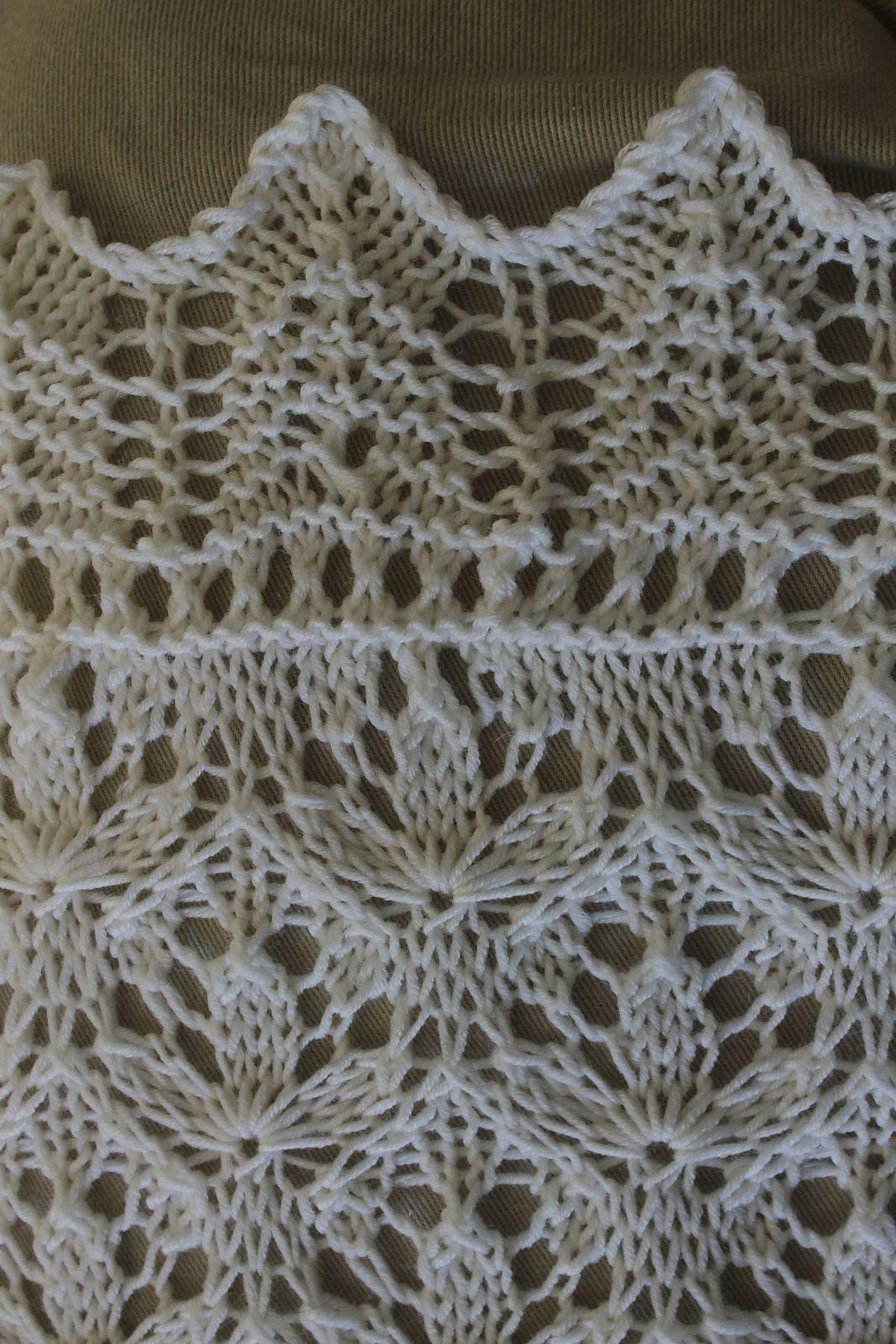 Starflower Estonian Lace Baby Blanket pattern by Hazel ...
