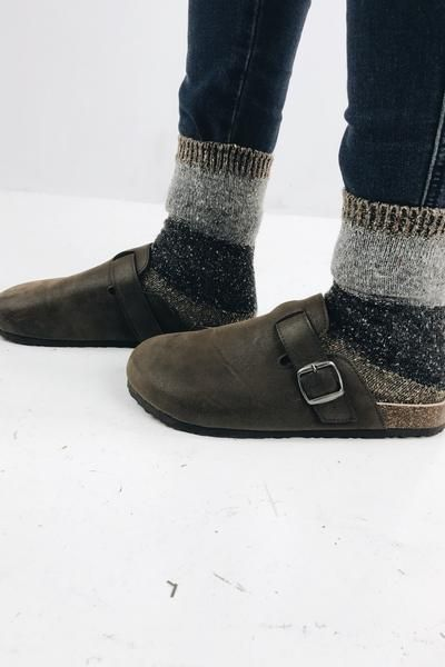 90's Boston Clog Dark Brown | Clogs outfit, Birkenstock