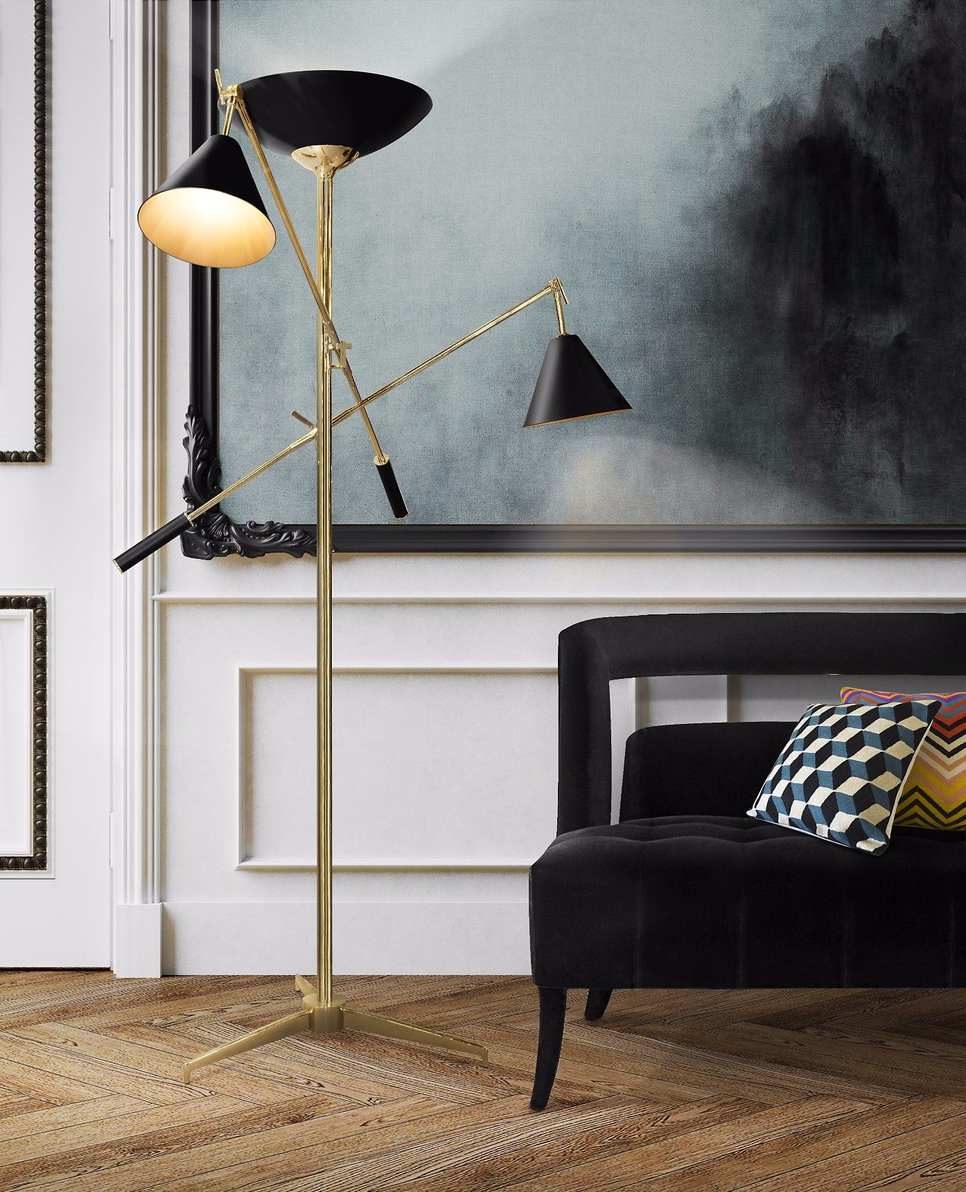 Lampada Da Studio Design torchiere floor lamp | modern floor lamps, home interior