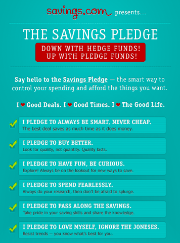 Are you a Saver? Take the Savings Pledge! Great to kick of the new year!