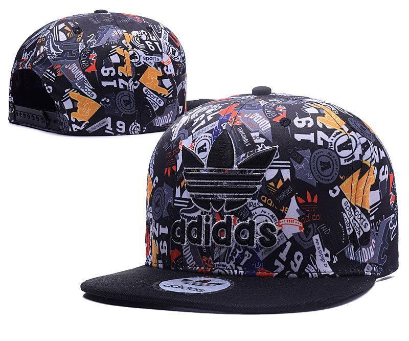 Men's Adidas The Originals Logo Floral Printed Snapback Hat - Teal