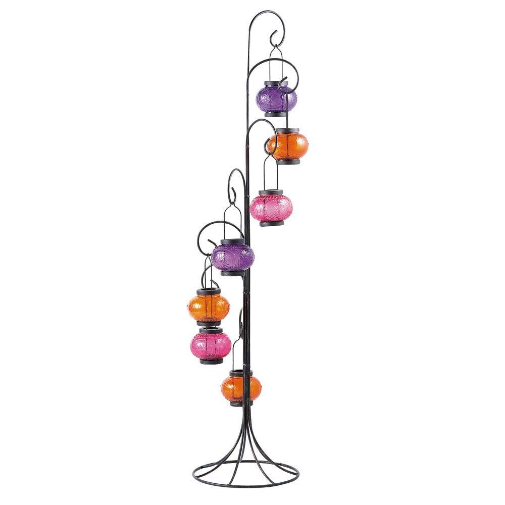 Candeliere multicolore in metallo H 120 cm CARAVANE | maison du ...
