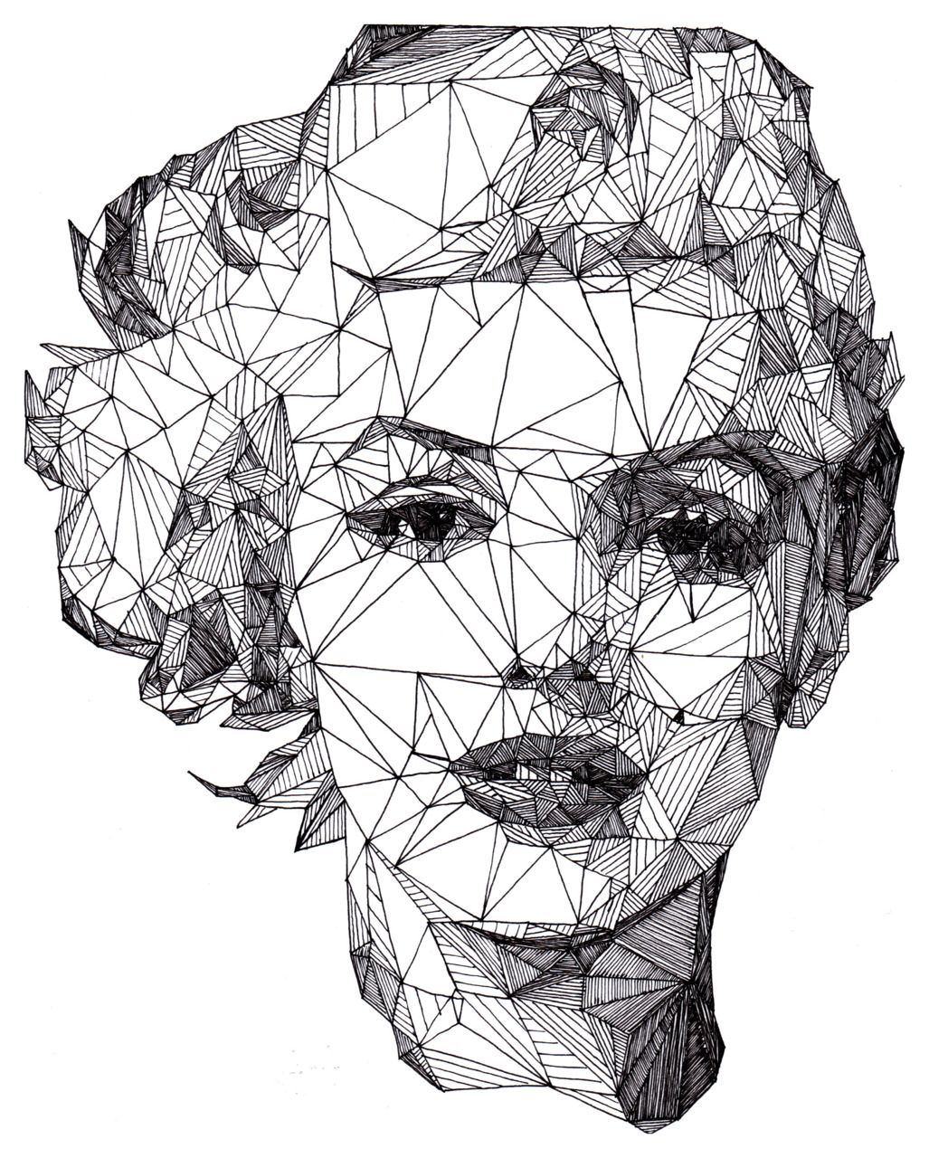 Marilyn Monroe : Pen art by Josh Bryan