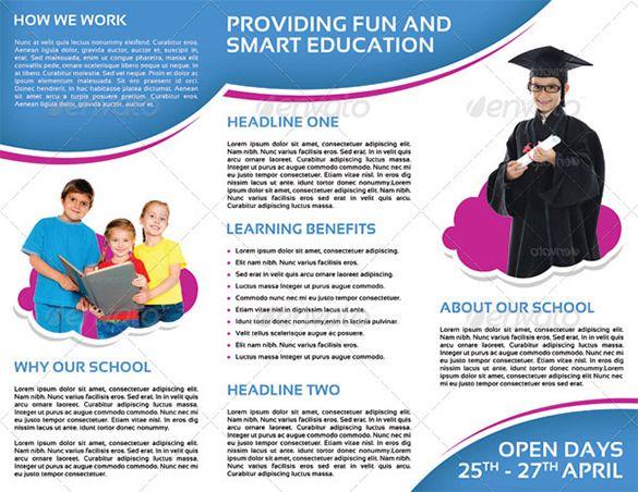 Contoh Brosur Tk Ra Dan Paud  Brochure  Pamphlet Designs