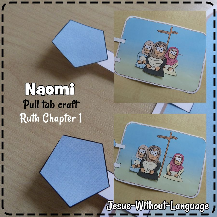 hinge paper craft illustrating the moment ruth decides to stay