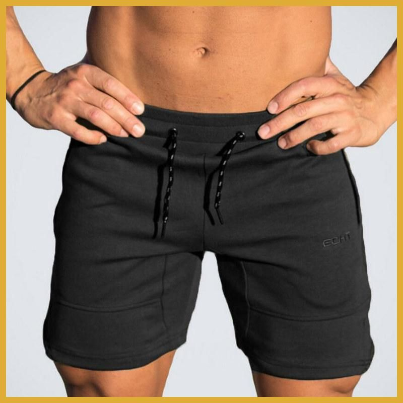 88872e8cc08 Mens cotton shorts Calf-Length gyms Fitness Bodybuilding Casual Joggers  workout Brand sporting short pants Sweatpants Sportswear