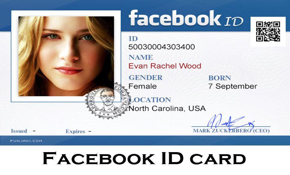 Facebook id card facebook jokes