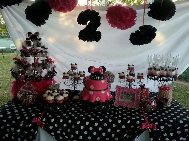 Minnie Mouse 2nd Birthday Birthday Party Ideas With Images Minnie Mouse Birthday Party Decorations Minnie Birthday Party Minnie Party