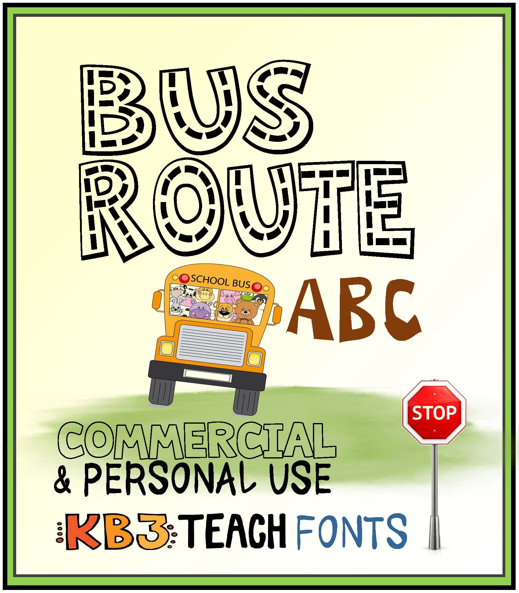 FONTS: KB3 Alpha Highway 4-Font Set (Personal & Commercial