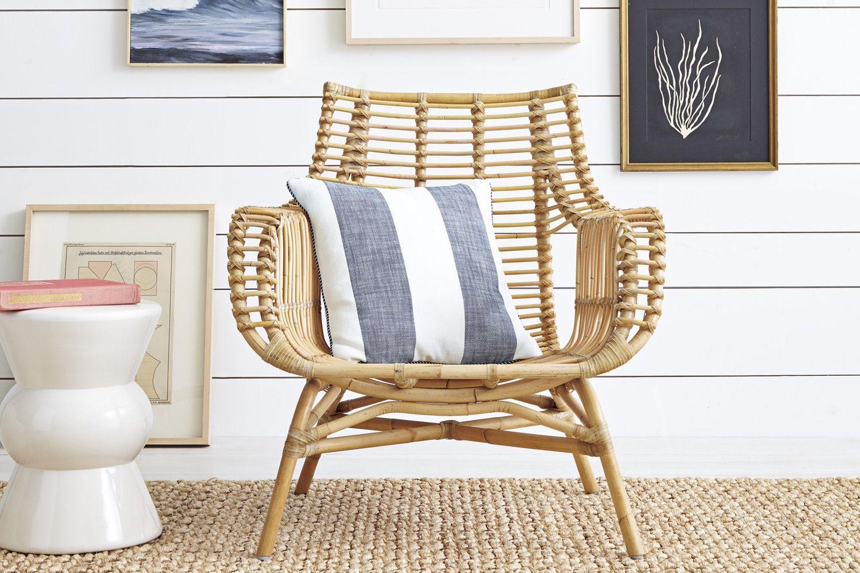 wicker living room chair