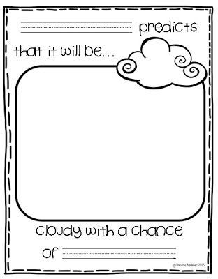 kindergarten writing prompts first grade fever wacky weather freebie use with cloudy with a. Black Bedroom Furniture Sets. Home Design Ideas