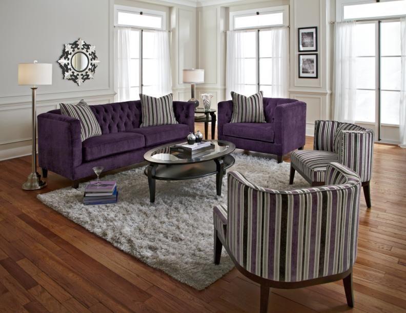 Purple Sofa And Chair So Regal