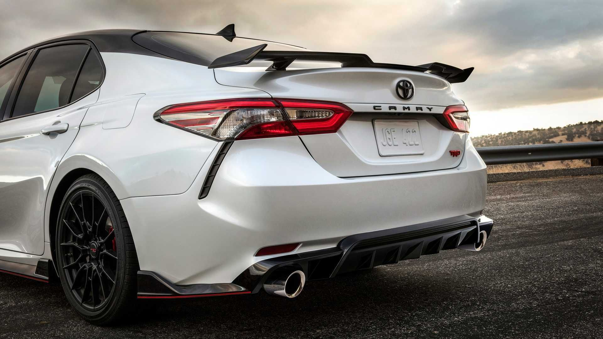 The Rear End Of Sportier New 2020 Toyota Camry Trd Toyotacamry Anese Anesecars An Toyotacars