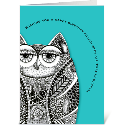 Happy Birthday Owl - Send this greeting card designed by ...