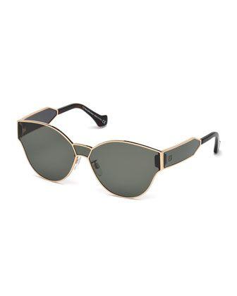 566f1d16e2 Monochromatic+Shield+Cat-Eye+Sunglasses