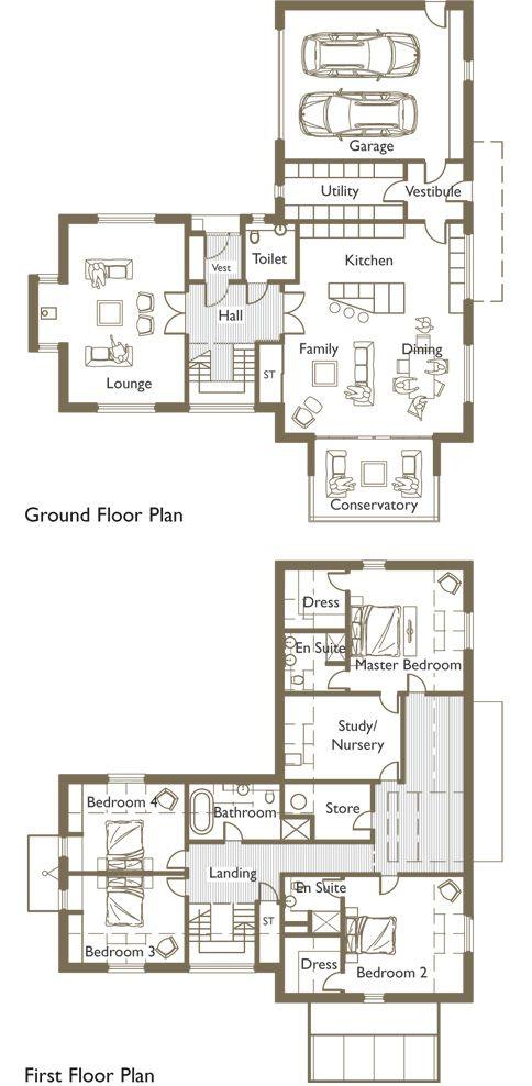 Unique Exclusive Luxury Homes On A Public Golf Course L Shaped House Plans L Shaped House Modern House Floor Plans