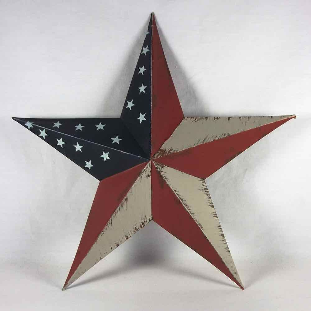 Metal Star Wall Decor 18 Inch American Flag Barn Star Metal Barn Flags And American Flag