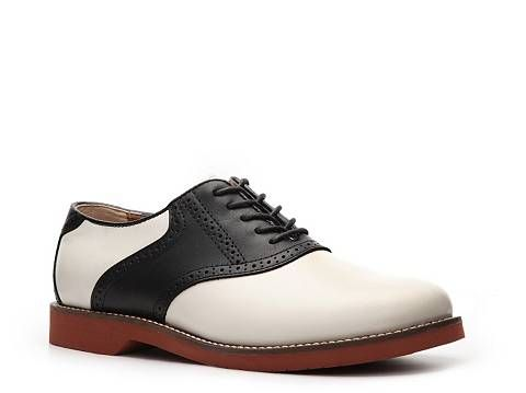 982a77925bbd1 Bass Men's Two-Tone Leather Saddle Shoe Lace Up Casual Men's Shoes ...