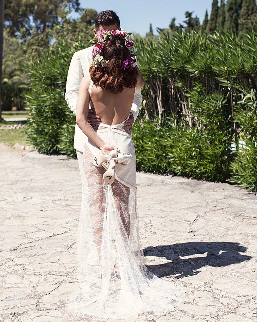 Hochzeit Von Vanessa Mai In Einem Rückenfreien Brautkleid Und Mit