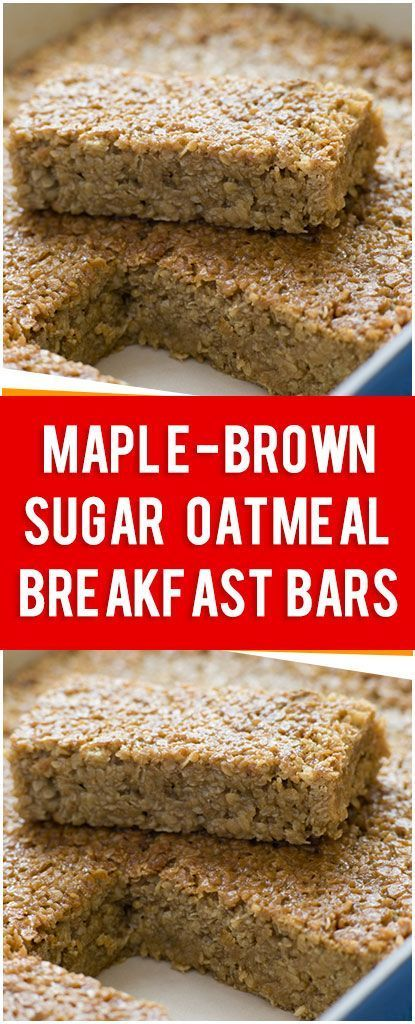 Maple-Brown Sugar Oatmeal Breakfast Bars – Fresh Family Recipes Maple-Brown Sugar Oatmeal Breakfa