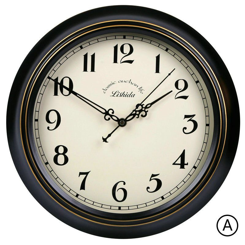 Black Metal Frame Wall Clock Vintage Abs Mute Wall Clock 12inch Vintage Wall Clock Black Metal Frame Wall Clock