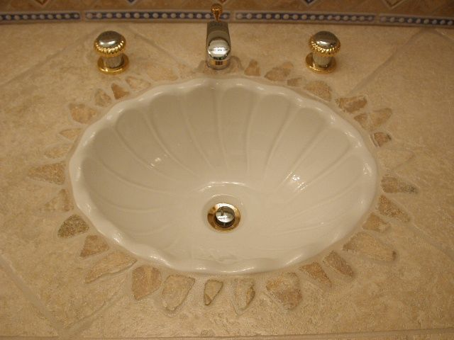 stone tile onyx stone inlay flush mounted sink by marcus marty