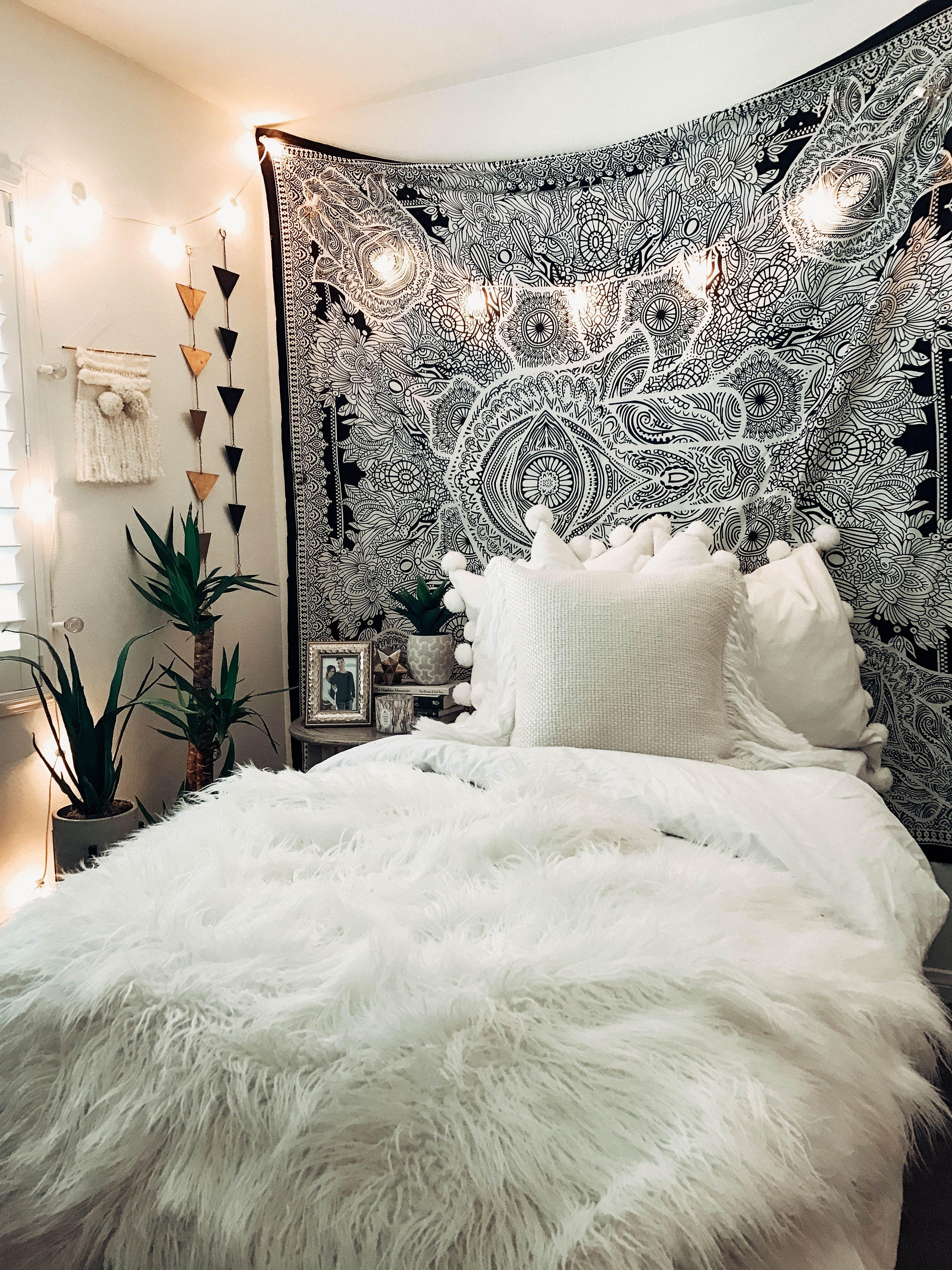 Bohemian Boho Inspirierten Betten Schlafzimmer Wand Dekor Bohmischen
