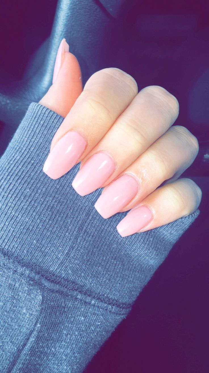 Acrylic Nails With Simple Designs On Medium Length Coffin Shaped Google Search Acrylic Nails Coffin Short Pink Acrylic Nails Coffin Shape Nails