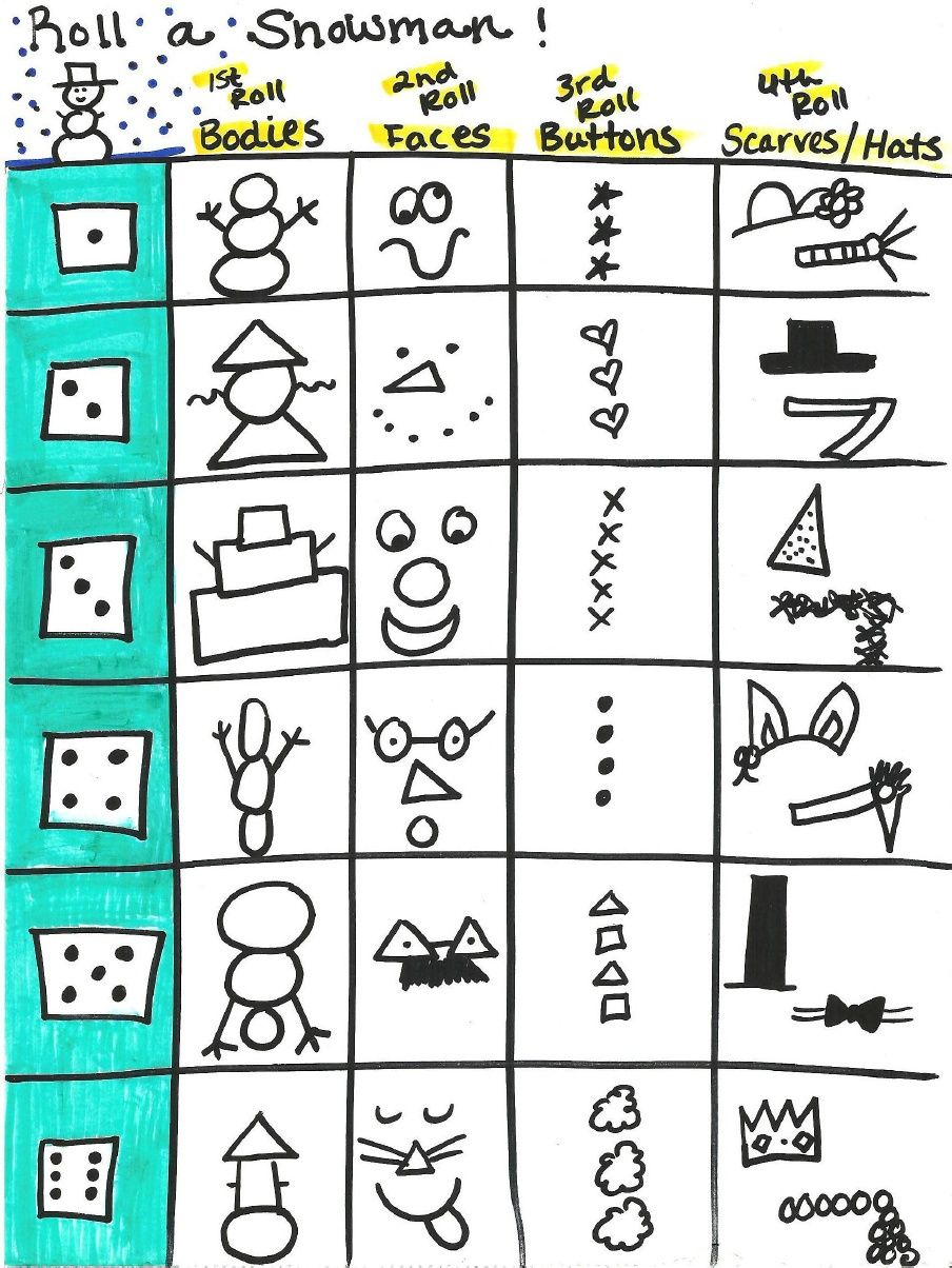 SINGING TIME IDEA Roll a Dice Snowman Music Idea for LDS