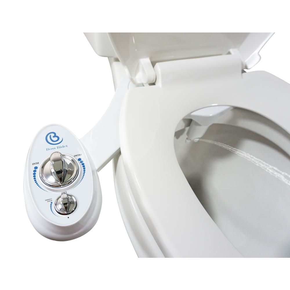 Hot Cold Nozzle Non Electric Bidet Toilet Attachment Water Spray Seat Bathroom