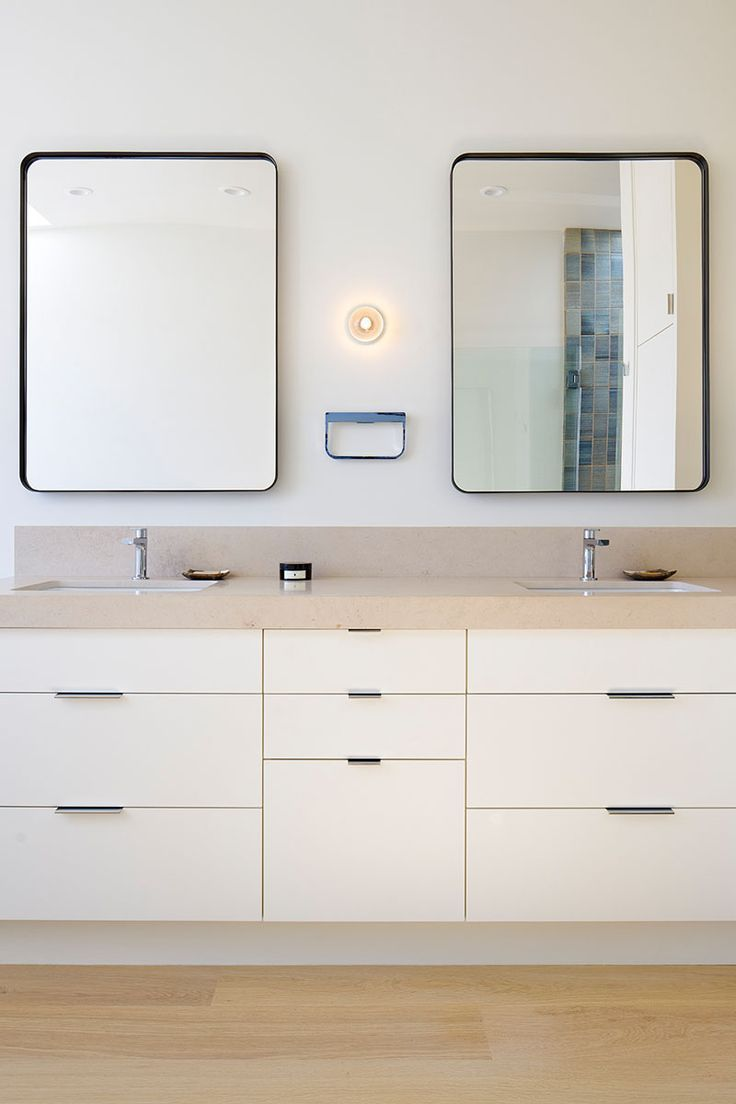 5 Bathroom Mirror Ideas For A Double Vanity // Two rectangular ...