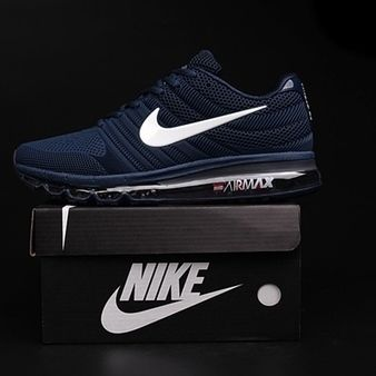 Nike Air Max 2017 Dark Blue White Logo Men Shoes [airmax2017-051] -