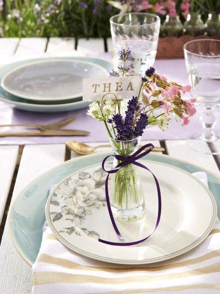 Tischdeko mit Lavendel Speisen wie in der Provence Düfte - tischdeko basteln sommerfest