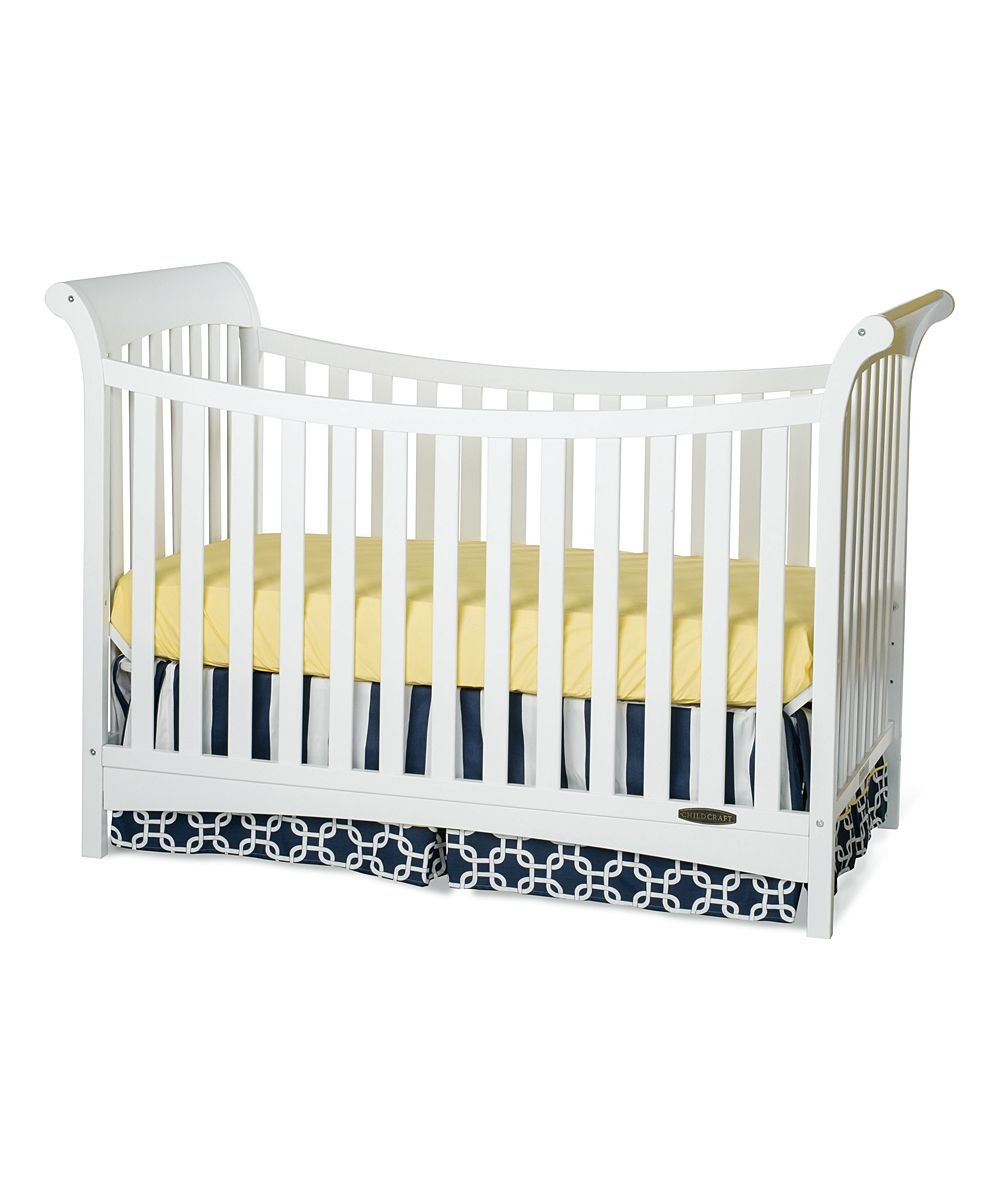 Best Matte White Ashton 3 In 1 Convertible Crib Traditional 400 x 300